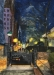 JV ESCALANT, Night at Bryant Park, 50 x 70 cm