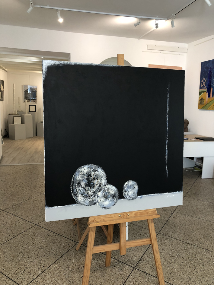 JV ESCALANT, Composition III (black)bis, 100x100cm