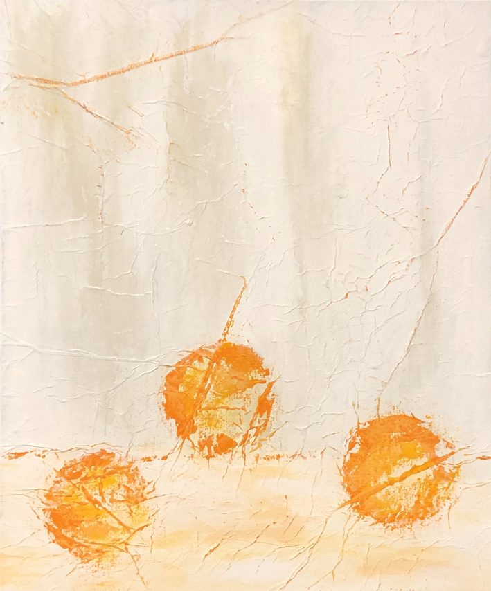 JV ESCALANT, Composition XVI 'orange', 46x38 cm