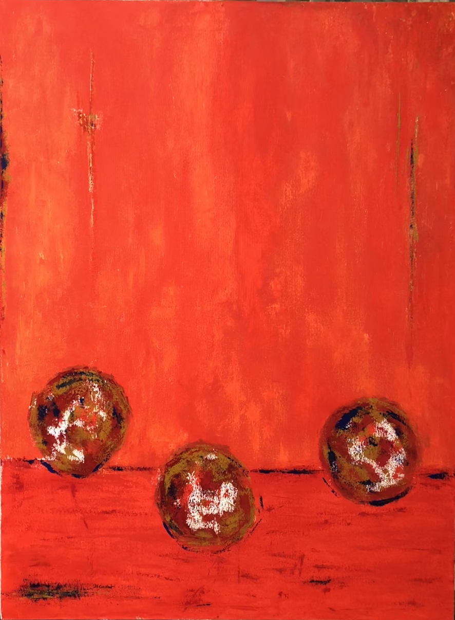 JV ESCALANT, Composition II (red), 130x97cm