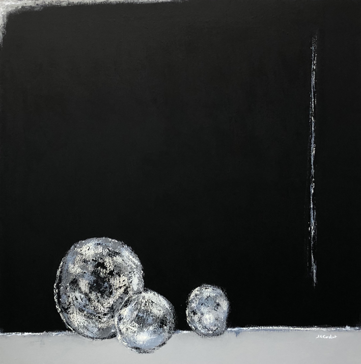 JV ESCALANT, Composition III (black), 100x100cm