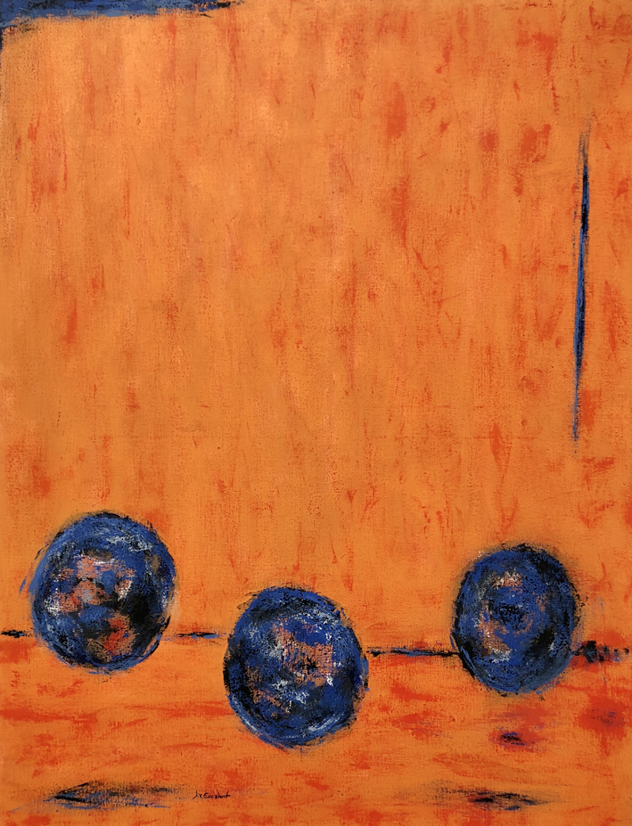 JV ESCALANT, Composition IV(orange), 116x89cm