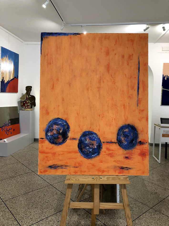 JV ESCALANT, Composition IV(orange)bis, 116x89cm
