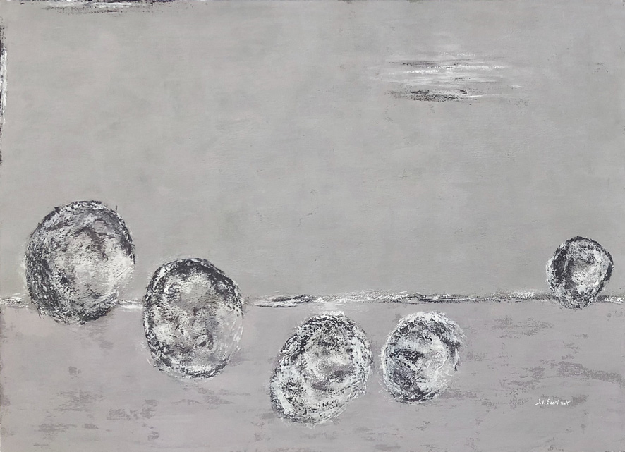 JV ESCALANT, Composition VI (grey), 73x100cm